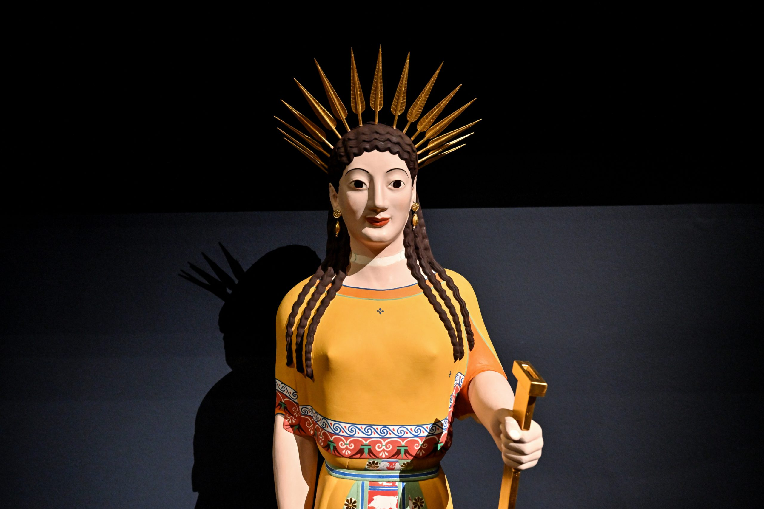Peploskore von der Akropolis in Athen (Darstellung der Göttin Artemis).