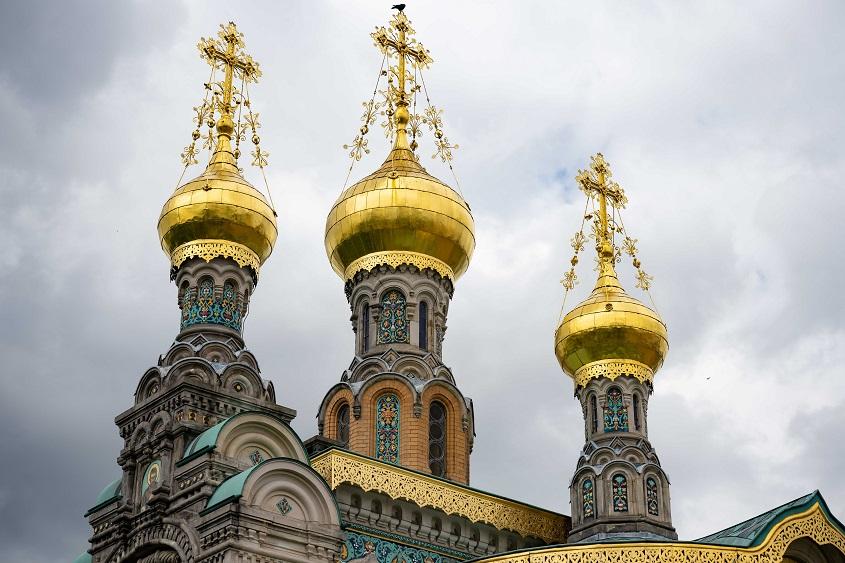 Kuppeln der Russischen Kapelle 1899, Mathildenhöhe Darmstadt, (c) Dr. Wolfgang Gerhardt