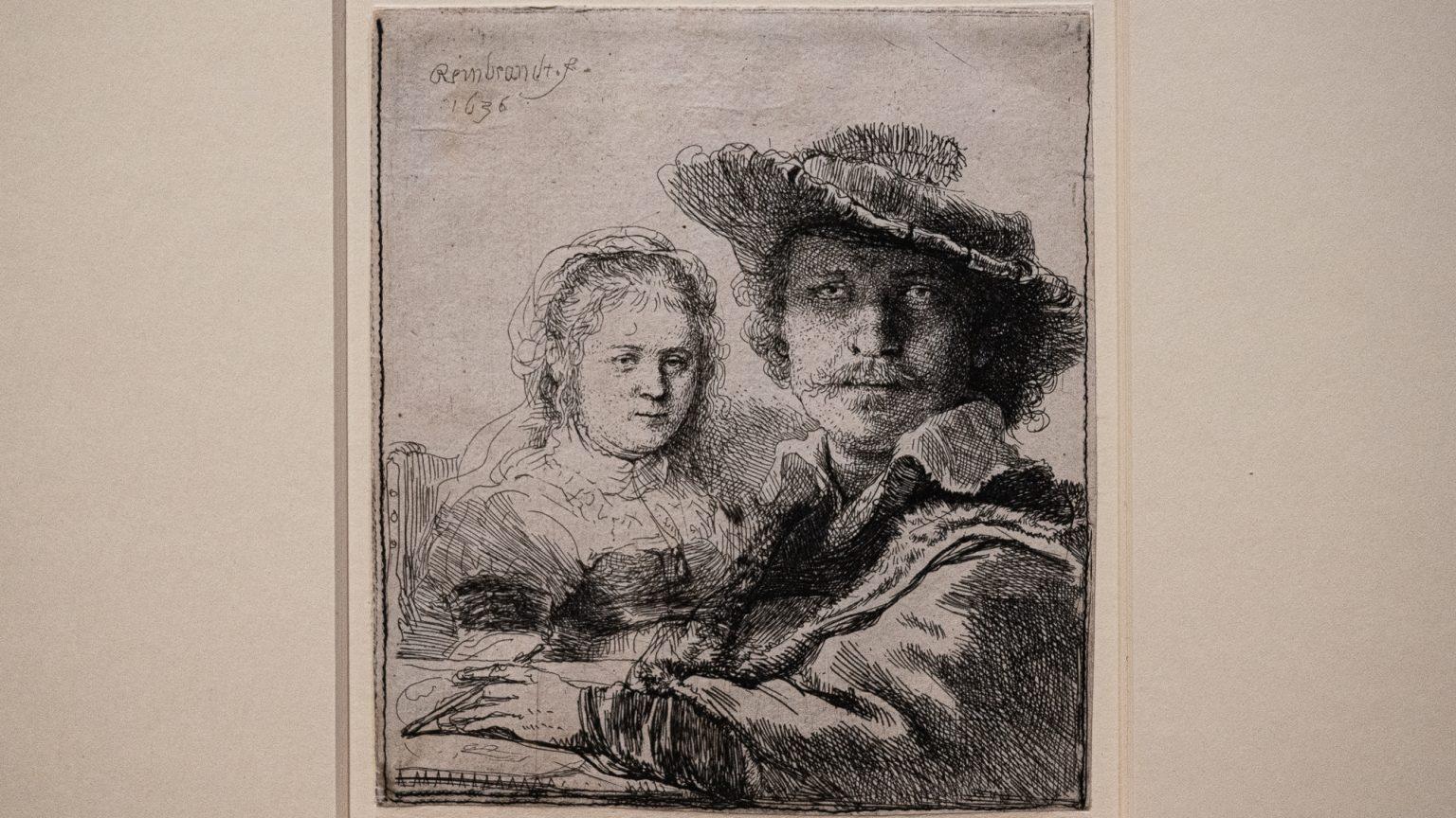 Rembrandt, Selbstbildnis mit Saskia, 1636
